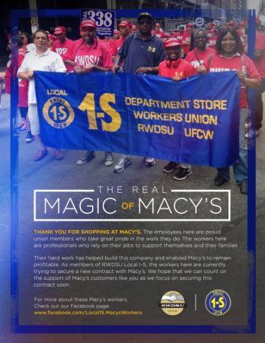 Magic at Macy's flyer